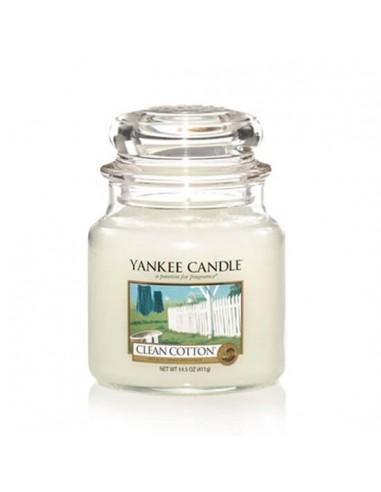 Yankee bougie parfumée Clean Cotton