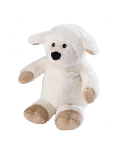 Wärme Stofftier Mini Schaf beige