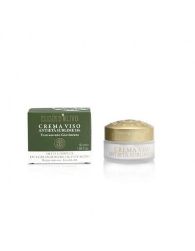 Crème visage anti-âge 24h Elixir d'olive 50ml