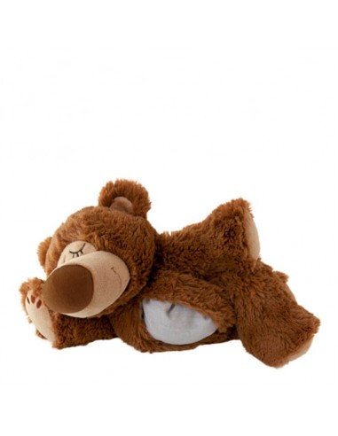 Warmies Peluche réchauffante sleepy Bear marron