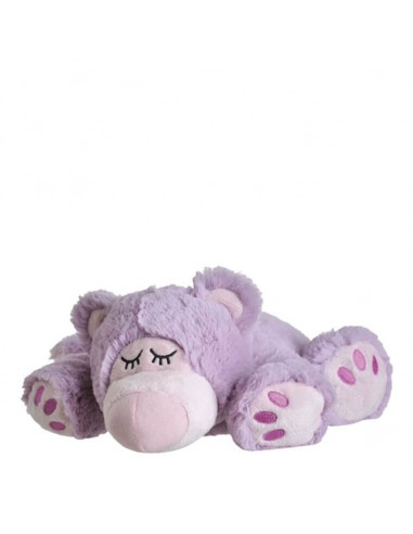 Warmies warm fabric bear purple