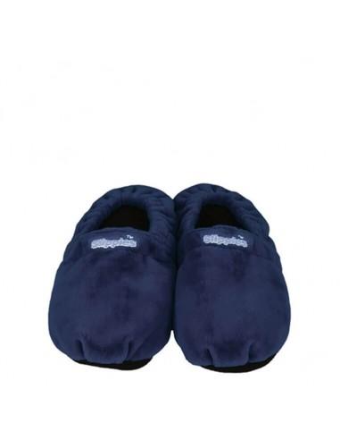 Pantofole riscaldabili classiche blu