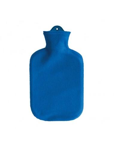 SÄNGER Wärmflasche 2l Fleecebezug blau