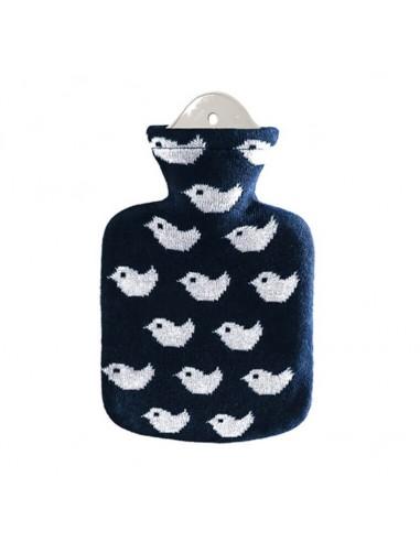 borsa acqua calda 0,8l fodera maglia blu