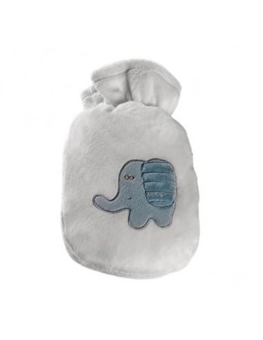 SÄNGER Wärmflasche 0.8l Velourbezug weiss Dumbo