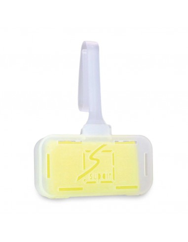 Toilet care stone in the basket yellow