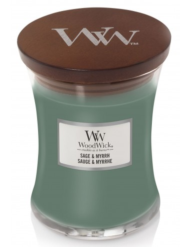 WoodWick Duftkerze Medium Sage and Myrrh